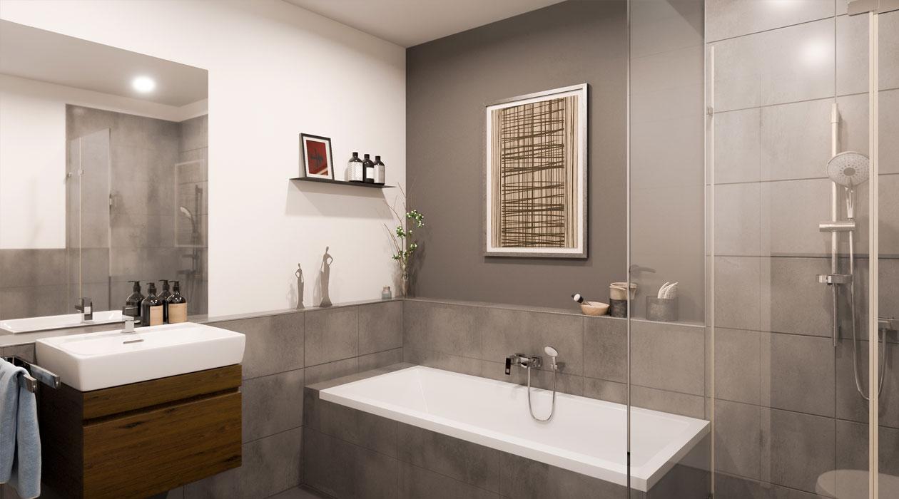 Innenansicht Badezimmer Stadt-Palais