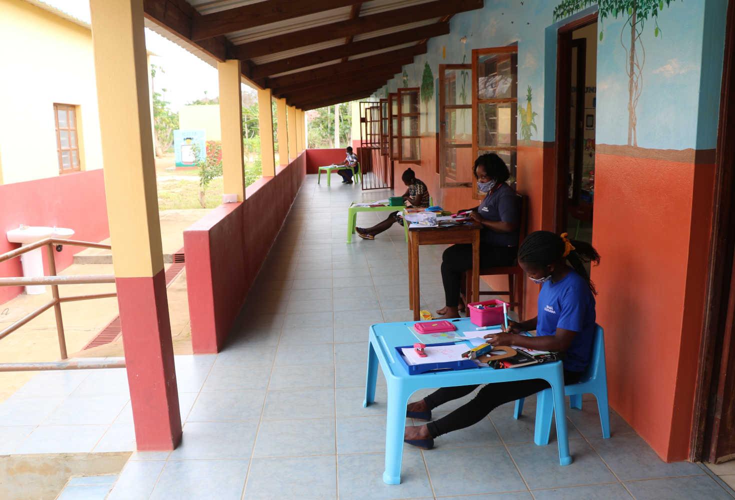 Soziales Engagement in Mosambik Unterricht
